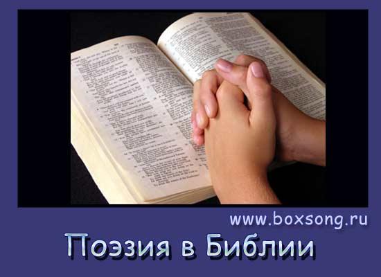 Поэзия в библии